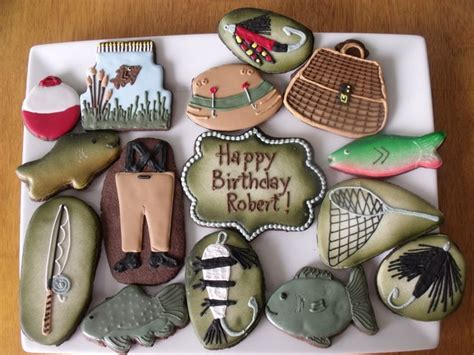 fishing cookies   fish cookies fancy cookies