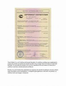 Certificat De Conformité Mercedes : certificat de conformit incendie en russie ~ Gottalentnigeria.com Avis de Voitures