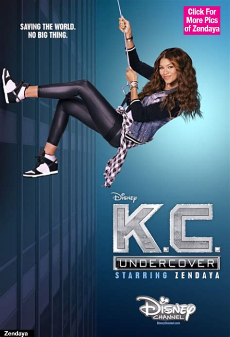 zendaya on 'k c undercover first poster of new disney show revealed hollywood life
