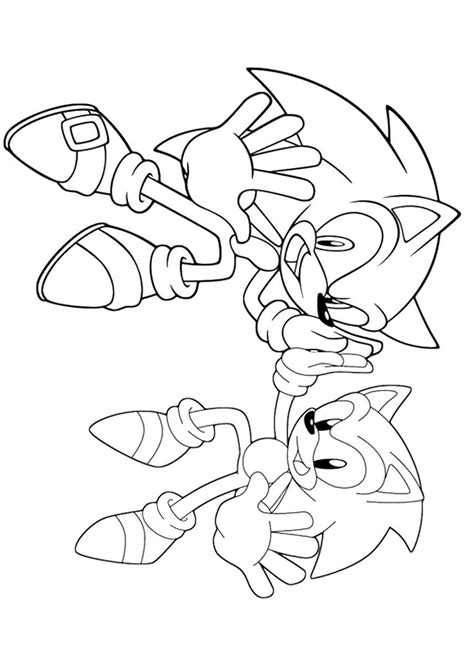 Sonic the Hedgehog Coloring Pages to Color