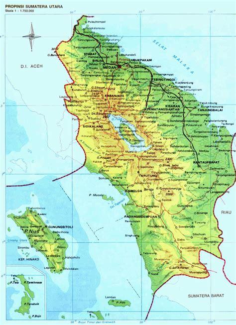 amazing indonesia north sumatra province map