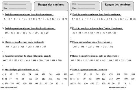 ranger par ordre croissant ranger par ordre croissant 28 images comparer ranger les nombres d 233 cimaux cm1 exercices