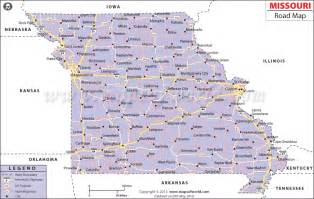 Missouri Highway Map with Cities
