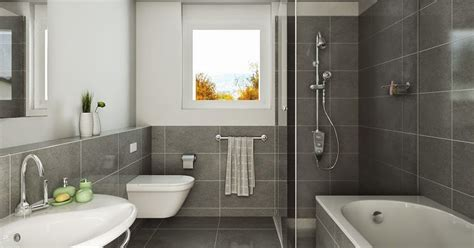 contoh model keramik kamar mandi minimalis desain rumah