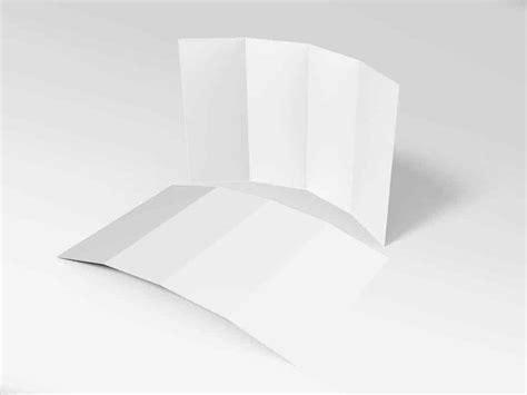 14 X 8 5 Four Panel Roll Fold Brochure Mockup On 14 X 8 5 Four Panel Roll Fold Brochure Mockup On