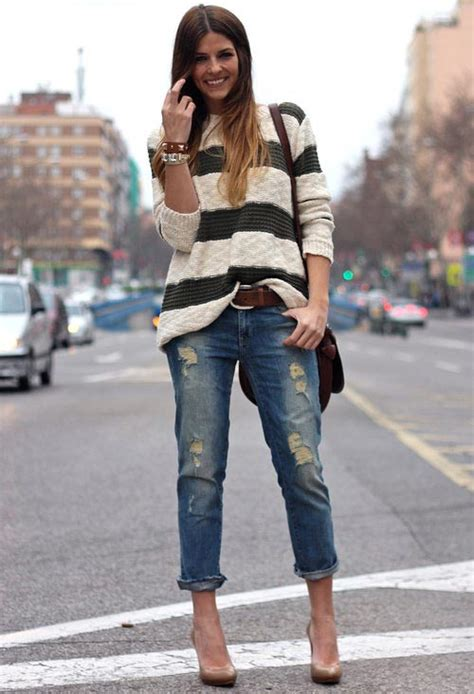 Come indossare i boyfriend jeans in primavera