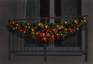 Weihnachtsgirlanden Innen Mit Beleuchtung : 1 80 m balkon girlande mit lichterkette beleuchtung ebay ~ Sanjose-hotels-ca.com Haus und Dekorationen