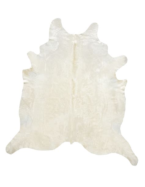 White Cowhides by Ivory With Beige Yellow Undertones Cowhide Moss Manor