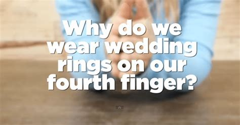 reason why we wear wedding rings on 4th finger is amazing