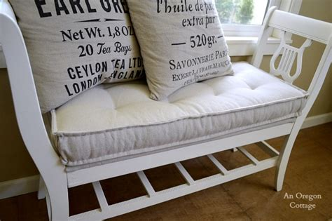 give  seats  makeover    diy bench cushions