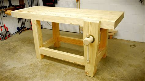 build  woodworking workbench part  youtube