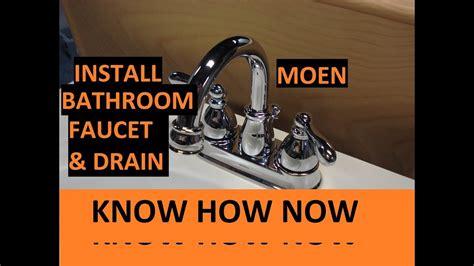 install moen bathroom sink faucet  drain youtube