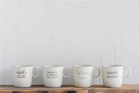 Fall Sayings Stoneware Mugs | Stoneware mugs, Mugs, Mugs set