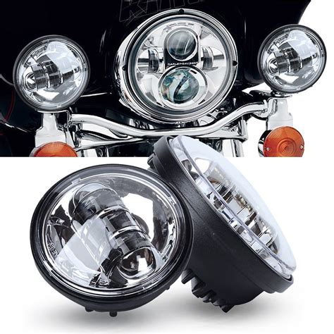 led auxiliary lights 2x 4 1 2 quot 4 5 quot chrome cree led auxiliary spot fog passing
