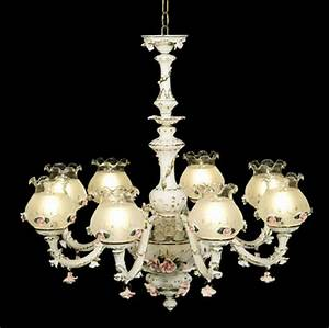 Capodimonte Made in Italy Chandelier 8 lights & 8 Globes ...