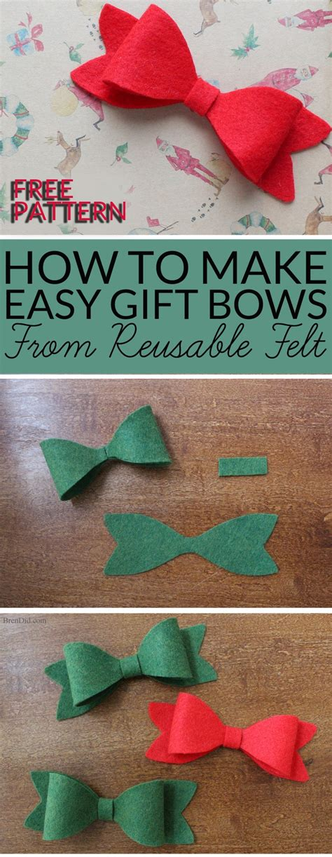 how to make christmas bows how to make christmas bows from felt bren did
