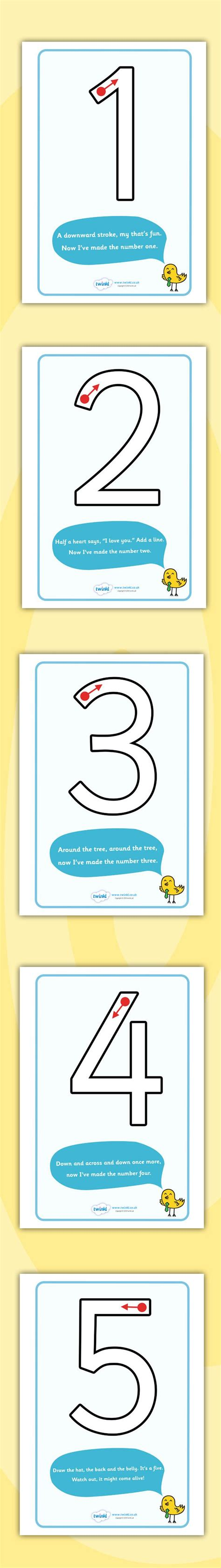 twinkl resources number formation rhyme display posters
