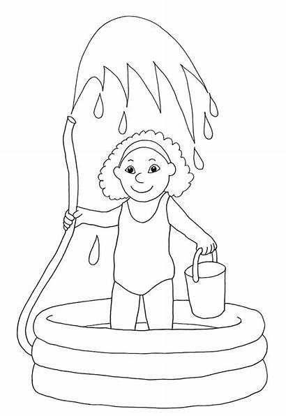 Coloring Pages Water Summer Sheets Printable Fun