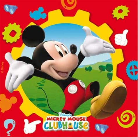blue candles mickey mouse clubhouse napkins in packs of 20 wizard