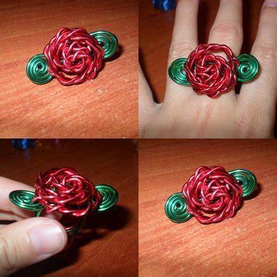 estefanianinia manualidades: anillo en forma de rosa