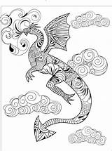 Coloring Pages Dragon Calm Adult Snake Books Razor Whip Studios Calming Mandala Adults Creatively Printable Teens Detailed Disney Fantasy Animal sketch template