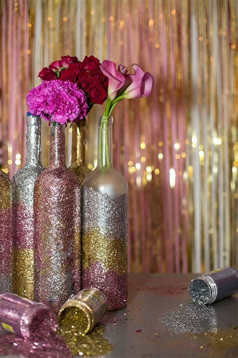 glitter wine bottle centerpieces chabadorg