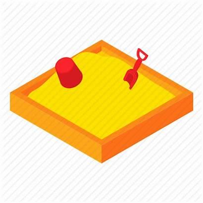 Sandpit Cartoon Clipart Icon Sandbox Play Illustration