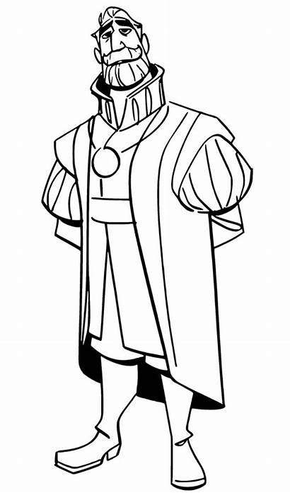 Tangled Series Coloring Pages King Gothel Mother