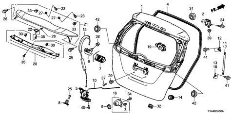 Honda Fit Diagram by 74910 T5c 023zb Genuine Honda Spoiler Rp46p