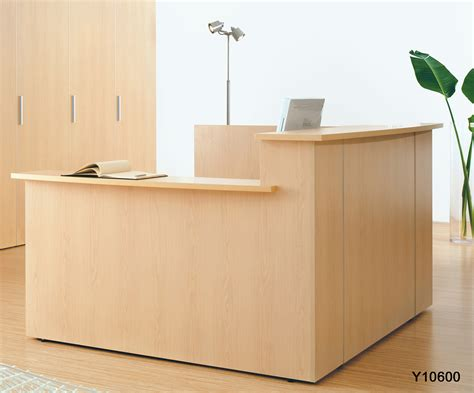 black wood filing 2 custom multi level l reception w right low counter