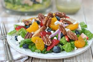 Strawberry Salad with Candied Pecans