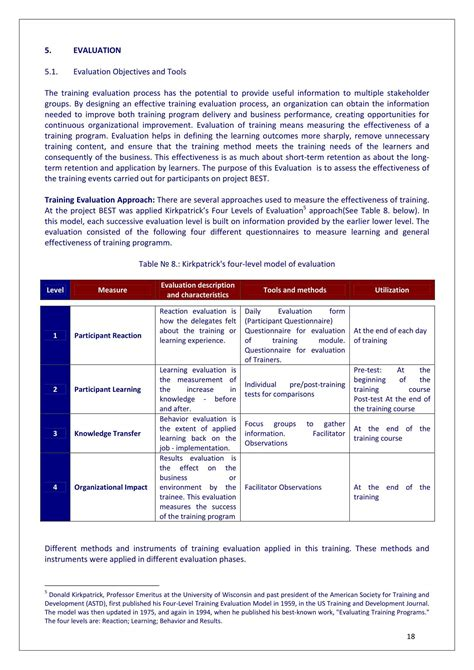 Training Evaluation Report Template - Professional Plan ...