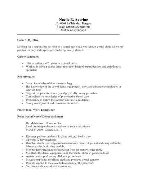 20674 dental assistant resume template exles of dental assistant resumes 18 dental