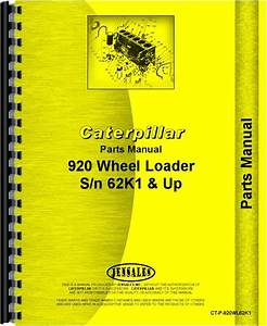 Caterpillar 920 Wheel Loader Parts Manual