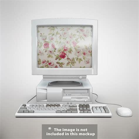computer mock  design psd file