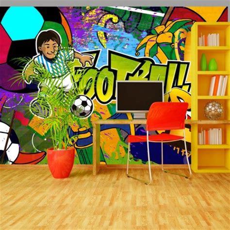 Tapisserie Foot by Deco Murale Foot Decoration Chambre Enfant Sur Le Th 232 Me