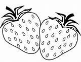 Strawberry Coloring Eva Simple Mitraland sketch template