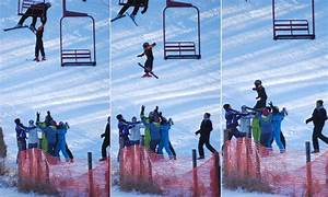 Boy survives after slipping out of ski lift and falls 25ft ...