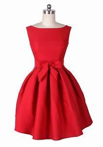 ReoRia Modern-Day Audrey Hepburn Red Party/Wedding Dress ...
