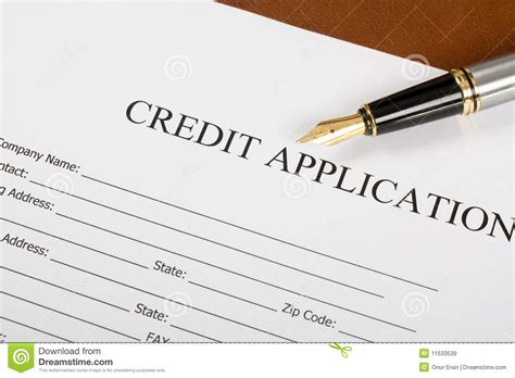 credit application form royalty  stock images image