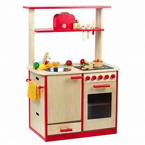 Kinderküche Aus Holz : sun kinderk che spielk che aus holz natur rot ebay ~ Orissabook.com Haus und Dekorationen