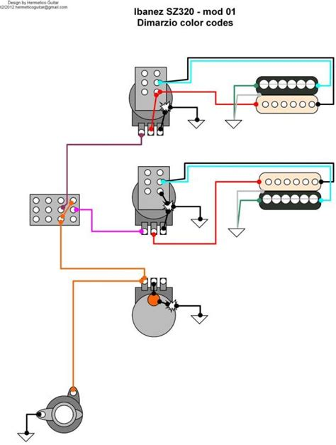 Push Pull Wiring Diagram by Ibanez Sz320 Wiring With 2 Push Pull Volume And 1 Tone