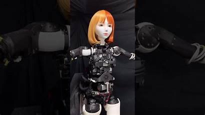 Robot Female Mannequin Moving