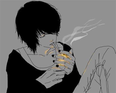 Anime Guy Smoking