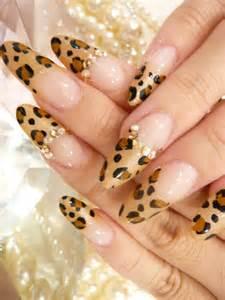 Fancy leopard cheetah print nail art design idea