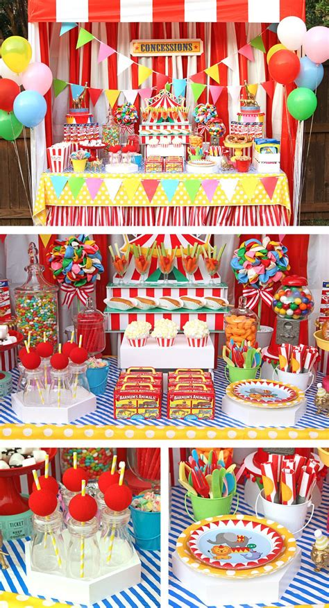 circus party ideas carnival party ideas  birthday   box