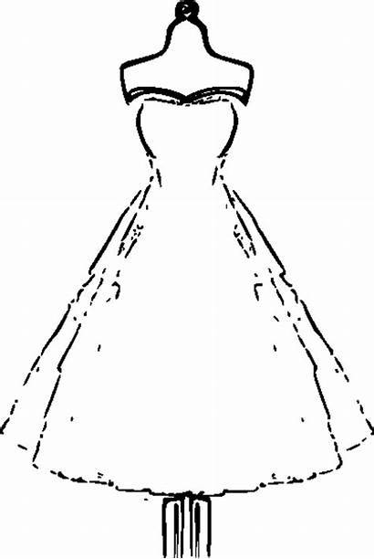 Coloring Pages Adults Printable Gown Clothes Paper
