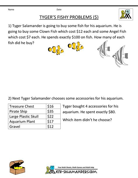 Challenging Math Worksheets For 4th Graders  Challenging Math Word Problems For 5th Grade 4th