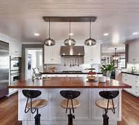 Photos Of Kitchens With Pendant Lights by Kitchen Island Pendant Lighting In A Cozy California Ranch