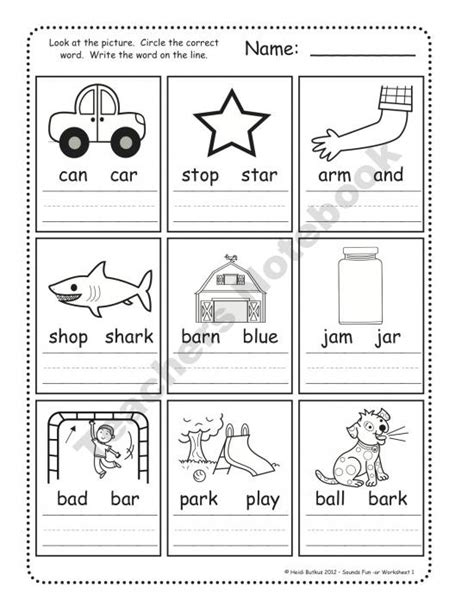 Worksheets For Kindergarten Phonics  Kindergarten Phonics Worksheets Printable Free